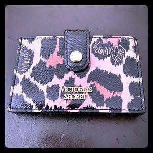 Victoria's Secret leopard print credit card holder